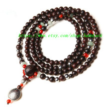 Natural fashion multi quaint big leaf sandalwood rosary bracelet rosary ... - $36.99