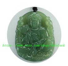 AAAA hand carved natural green jade Buddha pendant good luck charm jade pendants - $36.99