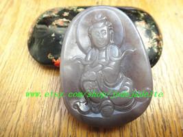Counter genuine natural jade A cargo jade Guanyin pendant - $28.99