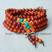 "100% natural ""Rosewood"" Meditation Yoga 108 prayer beads Mala - $26.99"