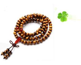 yellow tiger eye  rosary meditation yoga 108 Prayer Beads prayer beads bracelet image 2
