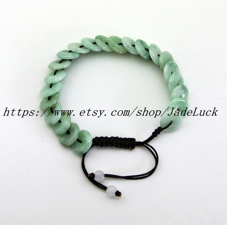 New Year's gift of peace buckle jade bracelets, jade peace buckle bracelet charm
