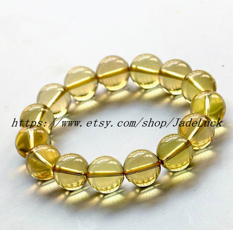 100% AAAAA grade genuine natural citrine beaded bracelet charm