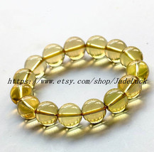 100% AAAAA grade genuine natural citrine beaded bracelet charm - $26.99