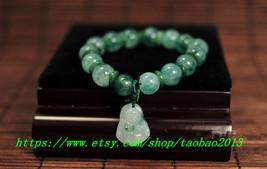 AAA grade natural green jade beads jade beaded charm bracelet - $20.00