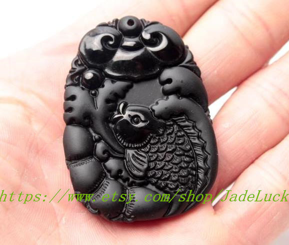 "Primary image for Natural obsidian ""annual surplus harvest fruit"" Zodiac pendant necklace pendant"