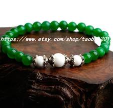 Exquisite bohemian crystal bracelet Tibetan silver Malay jade - $26.99