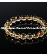 Natural Citrine Bracelet 10MM help the cause of Lucky Lucky bracelet - $46.99