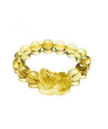 natural citrine brave bracelet 14MM present essential lucky men and wome... - $46.99