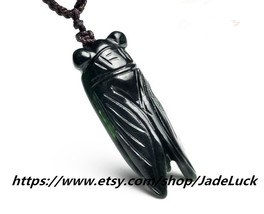 "Good luck good luck charm ink Cicadas pendant natural ""blockbuster"" pendant - $16.99"
