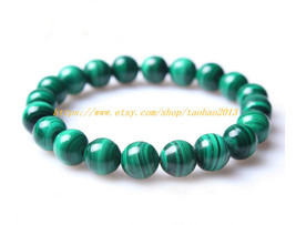 Need for AAA natural malachite, bracelet birthday valentines 8 mm bead c... - $29.99