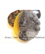 Perfect unique natural gray jade dragon amulet pendant handmade gifts - $28.99