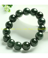 AAA grade 10 mm, 100% pure natural oils green beads, green jade beaded b... - $36.99