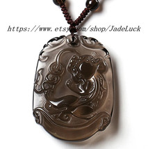 Natural ice kind of obsidian pi yao pendant / necklace pendant - $32.99