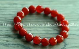 100% natural red jade jade beaded charm bracelet (adjustable belt) - $19.99