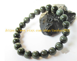 AAA Grade 8 mm, 100% pure natural green hair spar beads, beaded bracelet... - $36.99