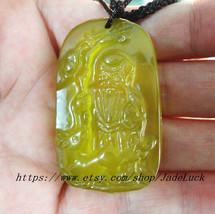Jade pendant natural jade pendant necklace pendant Huang Jinyu pendants ... - $20.99