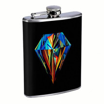 Diamond Em1 Flask 8oz Stainless Steel Hip Drinking Whiskey - $279,96 MXN