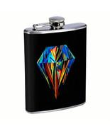 Diamond Em1 Flask 8oz Stainless Steel Hip Drinking Whiskey - $13.81