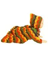 W443 Crochet PATTERN ONLY Bleeding Stripe Baby Bunting Pattern Dripping ... - $7.50