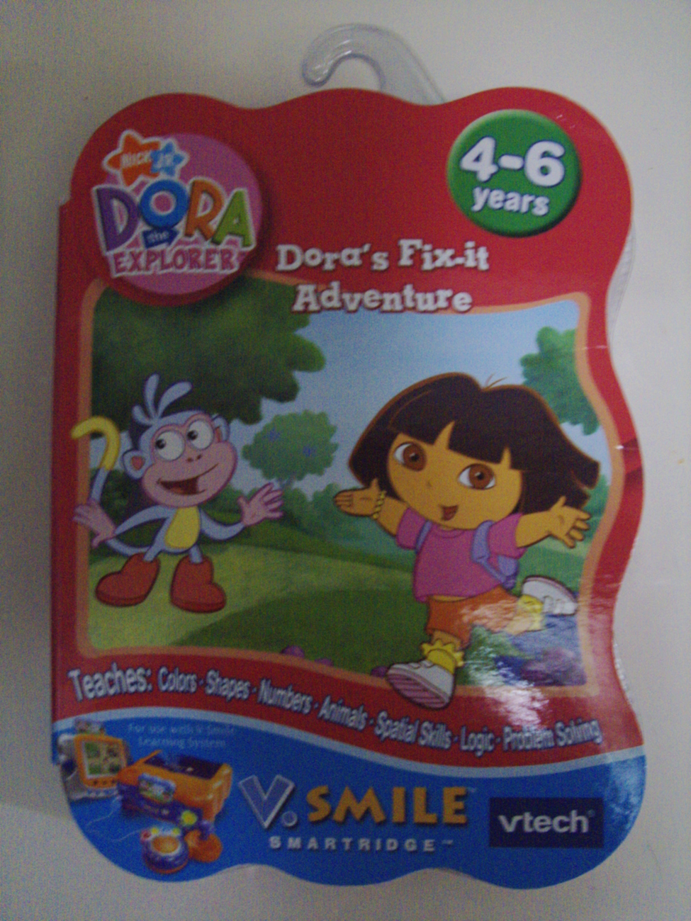 Nick Jr Dora the Explorer Dora's Fix-it Adventure VTech V-Smile smartridge - New