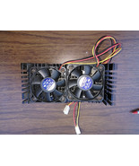 8UU89  INTEL PENTIUM II WITH HEAT SINK AND FANS (ONE IS NOISY), UNTESTED... - $8.79