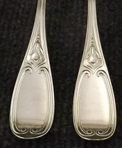 Rare Circa 1852 Rogers Tuscan Set of 8 Silver Plate Dinner Forks-166 Years Old! - $55.95