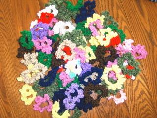 Crochet hair scrunchies 010