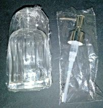 Threshold Solid Fluted Glass Soap Pump Clear with silver color pump handle - image 3