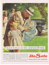 1945 Douglass Crockwell Newborn Baby parents pouty sister Nurse DeSoto P... - $9.99