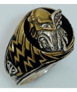 Viking Warrior Lightning Ring   Sterling Silver Large - $70.00