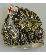 Christian LION lies with Lamb  Mens ring       ... - $115.83