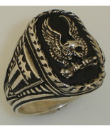 American Silver Eagle ring sterling silver - $65.00
