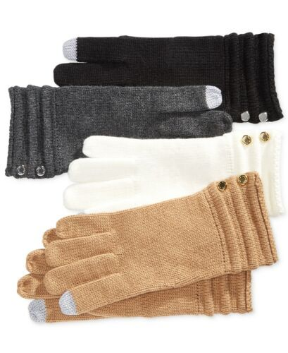 Primary image for Michael Kors Ottoman Stitch Long Gloves (Black, One Size)