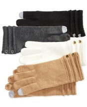 Michael Kors Ottoman Stitch Long Gloves (Black, One Size) - $47.40