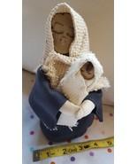 """9"""" Handmade Nativity Baby Jesus & Mary Christmas xmas Decoration dolls d... - $28.21"""