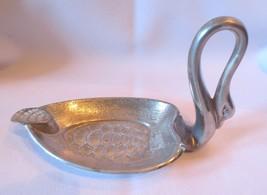 Vintage Silverplate? Metal Unique Swan Ashtray Trinket Pin dish - $15.00