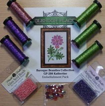 EMBELLISHMENT PACK for Katherine Barouqe Collection floral cross stitch chart - $33.60