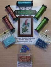 EMBELLISHMENT PACK for Millicent Barouqe Collection floral cross stitch chart - $32.25