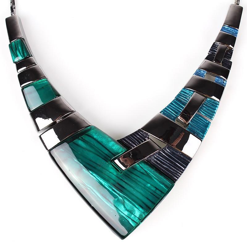 Fashion Jewelry Sets Gunmetal Plated Multicolor green blue - $21.99