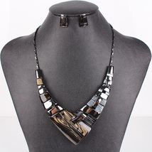 Fashion Jewelry Sets Gunmetal Plated Multicolor gray black - $21.99