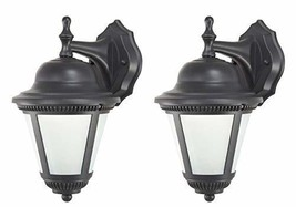 Classic Cast Aluminum 2 Piece Set of LED Outdoor Wall Lights/Lanterns Wi... - $63.90