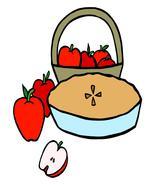 Apple Pie--Digital Download-ClipArt-Art Clip - $4.00