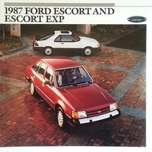 1987 Ford ESCORT and EXP sales brochure catalog 87 US Luxury Sport GT - $8.00
