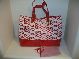Estee Lauder Diaper Tote Purse Hand Bag RED WHI... - $13.86