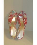 Jessica Simpson DARIA Floral Fabric Straw Wedge Heels - $54.99