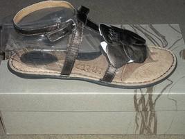 Born Concept VIOLA Frost Flower Leather Strap Comfort Sandals New - $66.00