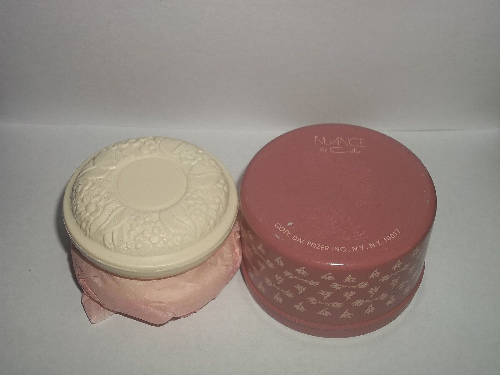 2 Coty NUANCE Bath Soap Bars Women Tin Can 2.7 oz Discontinued Hard to Find New - $17.82