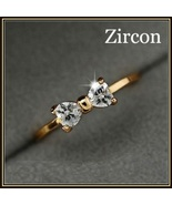 Austrian Diamond Crystal Bow Cubic Zircon Engagement 18K Gold Plated Ring - $42.95