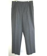 Zanella gray trouser Wool blend 12 Italy Stretc... - $38.99
